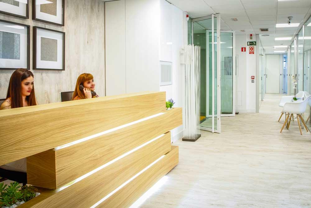 Recepción Centro de Negocios Madrid